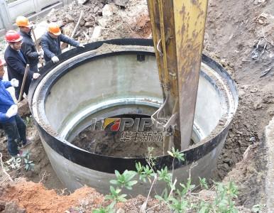 玻璃纤维增强树脂混凝土-沉井施工法筒体