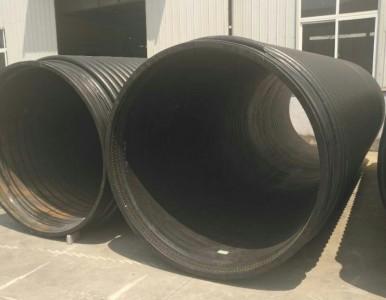 国标排水hdpe缠绕增强管,大口径缠绕结构壁B型管直销