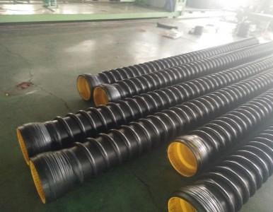 国标SN8HDPE缠绕增强管生产价格/国标厂家