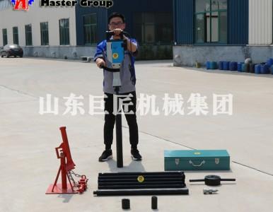 小型电动土壤取样钻机 巨匠QTZ-3D便携式电动取土钻机价