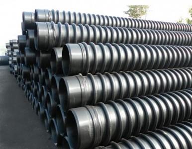 上海德塑供应HDPE增强缠绕管 克拉管 B型缠绕管