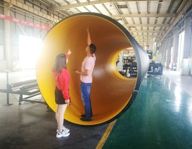 HDPE钢带波纹管 PE钢带管 大口径排污管