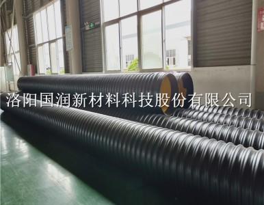河南聚乙烯钢带波纹管 耐磨钢带螺旋管道