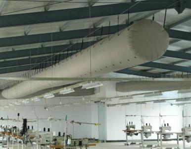 苏州瀑布暖通T型纤维织物的布袋风管 品质保证厂家直销