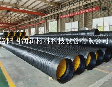 登封聚乙烯钢带波纹管 耐磨钢带螺旋管道