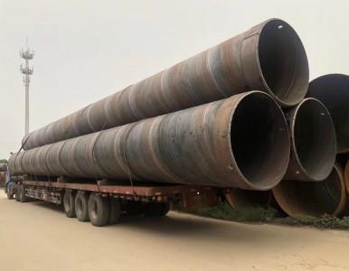 广东朗泽螺旋管厂加工超厚钢护筒超长钢管桩价格优惠
