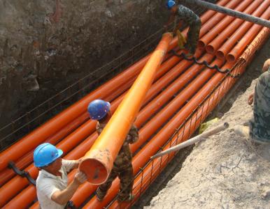 湖南PVC-C高压电缆管埋地穿线管dn160配件及安装步骤