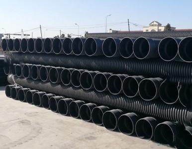 HDPE双壁波纹管 大口径螺旋波纹塑料管 供水排污塑料管