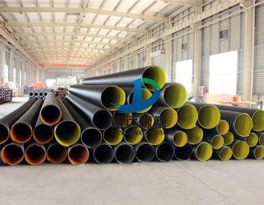 河南商丘800钢带增强Pe螺旋波纹管的做法