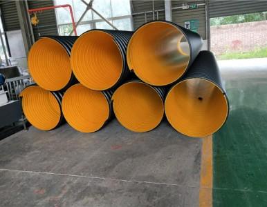 大口径钢带管现货直销 地埋钢带波纹管