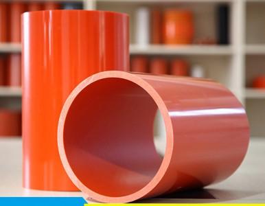 供应橘红色电力穿线管pvc电力管167#耐高温 绝缘性能好