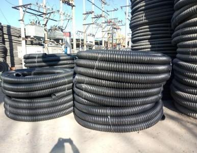 厂家供应黑色路灯穿线管 埋地电力碳素波纹管50/200
