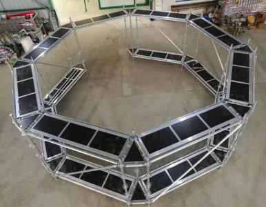 GN50环形铝合金脚手架,因地制宜,解决高空作业难题!