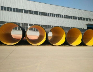 HDPE钢带波纹管连接方法 地埋钢带排污管
