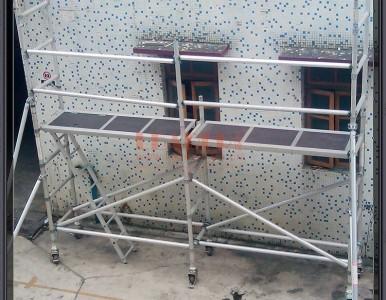 外墙脚手架 外墙施工用 轻便组合 无须工具 易搭易拆
