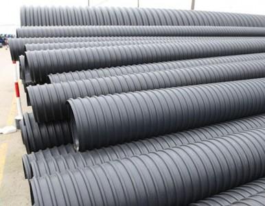 湖南岳阳HDPE钢带管城市排污选用湖南PE管钢带管