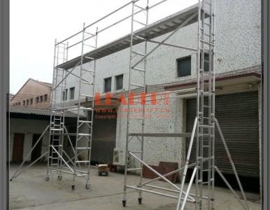铝架厂家专业定制特殊高空装饰维修工作用铝合金桥梁式移动脚手架