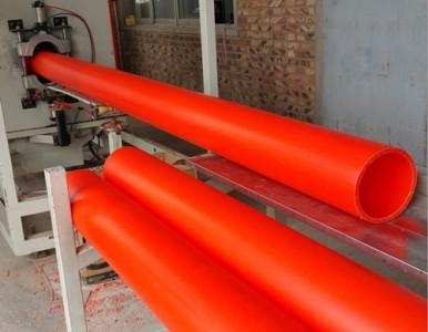 MPP塑料电力穿线护套管生产线