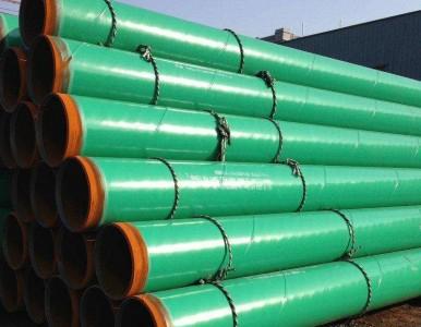 加强级环氧粉末防腐螺旋管 给水管道用防腐环氧粉末好