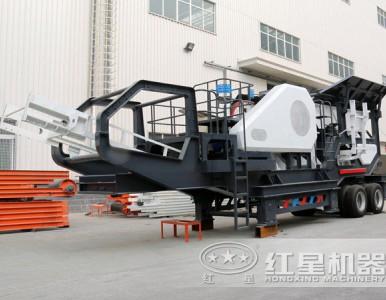 建筑垃圾如何处理,可移动碎石机教你LYJ80