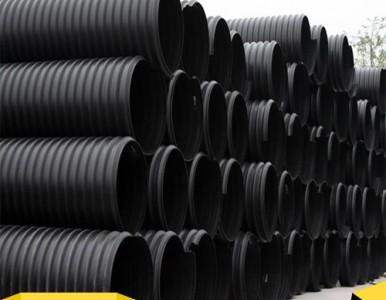 钢带增强PE螺旋波纹管  钢带增强双壁波纹管地埋排水管
