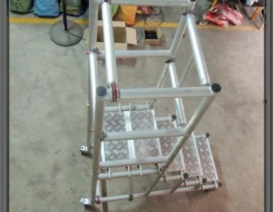 轻型铝合金移动登高平台 散拆拼装式 重量轻使用方便
