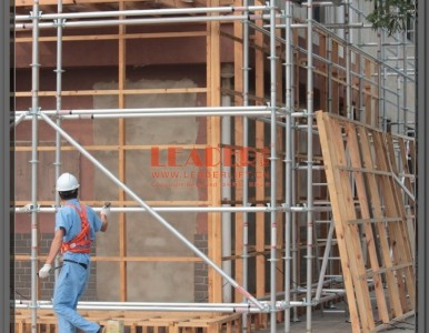 别墅外墙装饰装修 建筑工程环形施工作业搭建回型铝合金脚手架