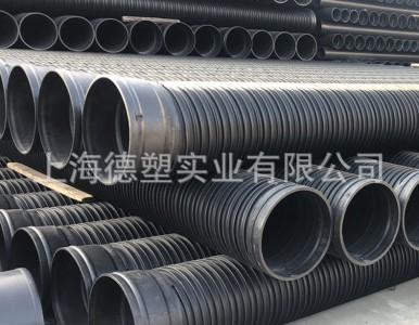 江苏厂家供应HDPE塑钢缠绕管 钢带缠绕管
