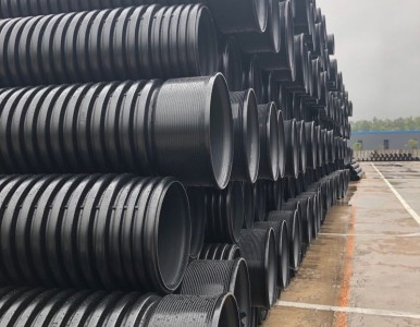 湖南长沙HDPE钢带管增强螺旋管聚乙烯排污管厂家售价知多少