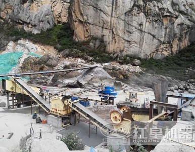 时产100吨青石破碎生产线用户作业案例-高效环保作业现场MW
