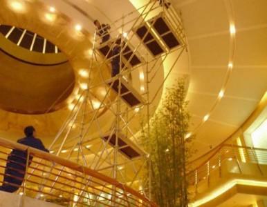 搭建外墙悬空工作架 铝合金脚手架系统 稳固安全可靠