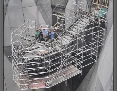 高空安全作业铝合金脚手架 单管式设计 安全稳固