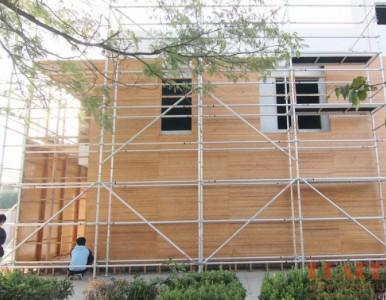 别墅外墙装饰工程施工搭建铝架 推荐易达组合式盘扣铝脚