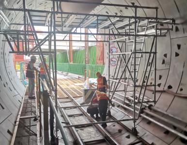 铝合金地铁施工架 无焊接工艺制造 更安全稳固